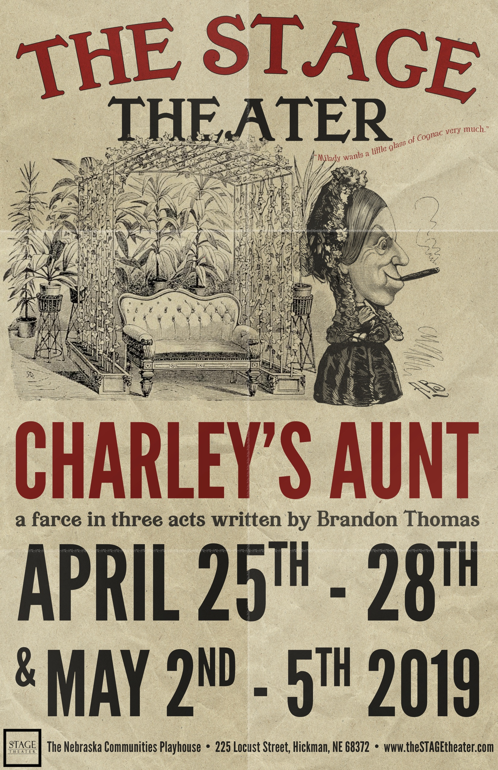 Charley's Aunt 11x17 PRESS