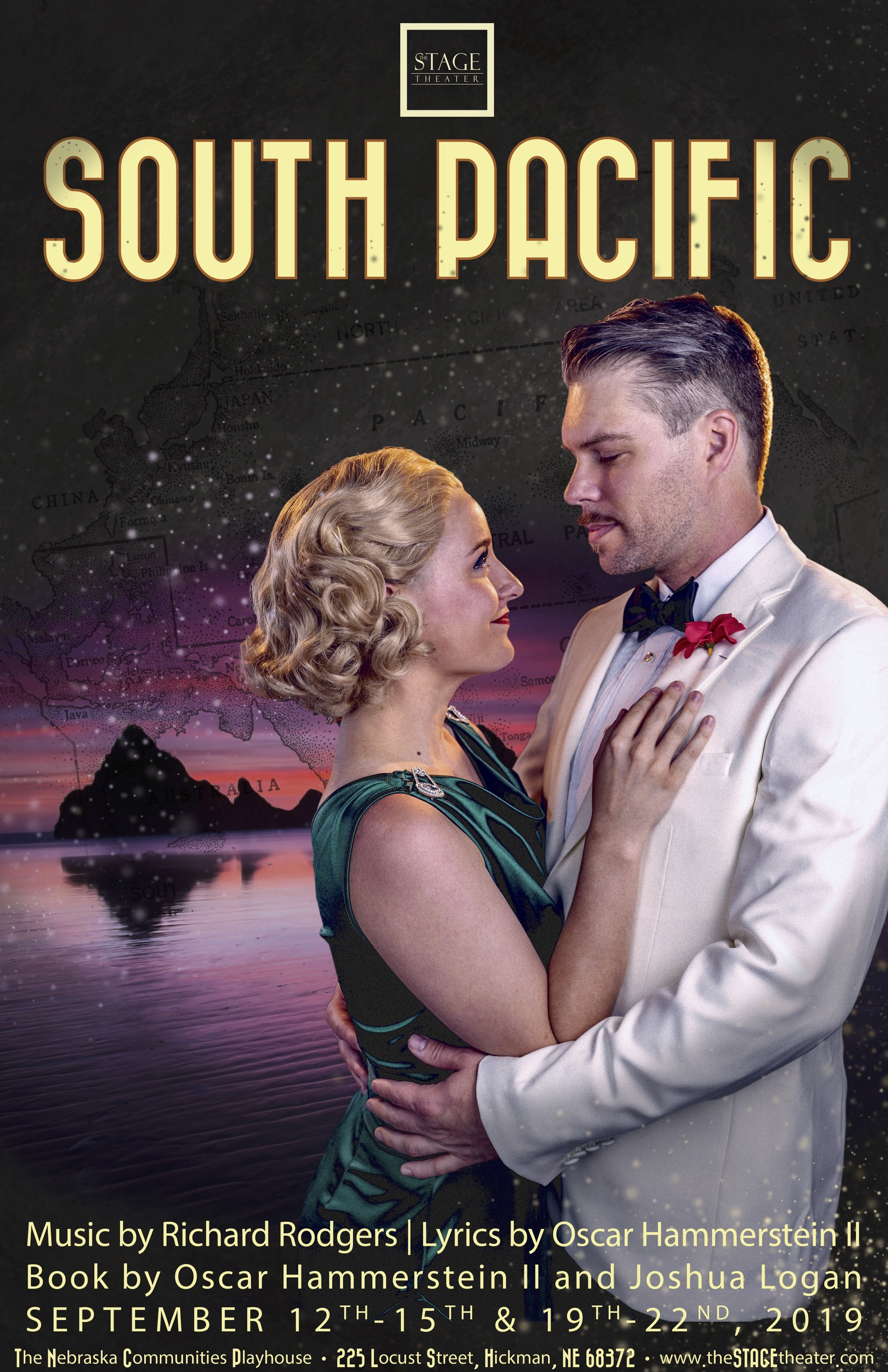 South Pacific Embrace Poster 11x17